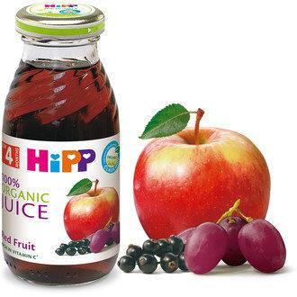 HIPP БИО Бебешки Сок от червени плодове 200 мл. 4 м. +